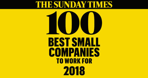 We're in The Sunday Times 100 Best Companies to Work for 2018
