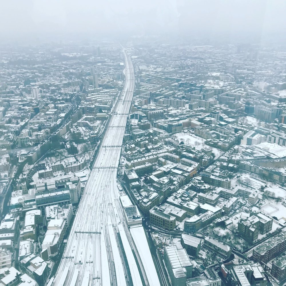 The snowy View From The Shard