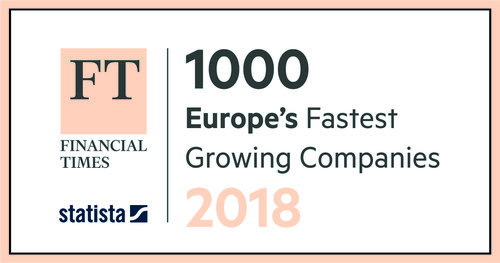 Stop Press: We're the 181st fastest growing company in Europe as featured in FT1000