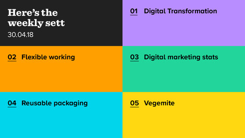 The Weekly Sett: Digital Transformation, Flexible Working, and Vegemite