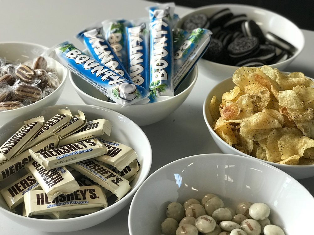 black and white snacks to mark GAAD
