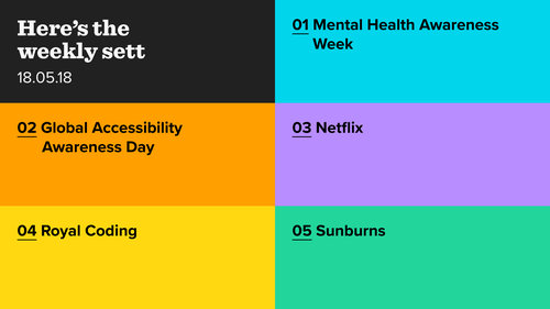 The Weekly Sett: Mental Health, Accessibility, Netflix,  Royal Coding and Sunburns
