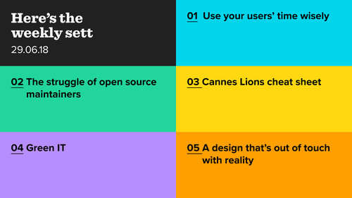 Calm design, open source, Cannes Lions and green IT