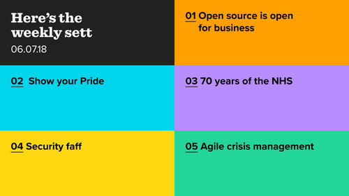 Open source, Pride, NHS, security and agile crisis management