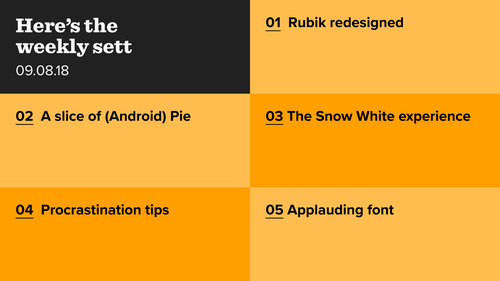Rubik remade, storytelling and user experience, and a round of applause for variable fonts