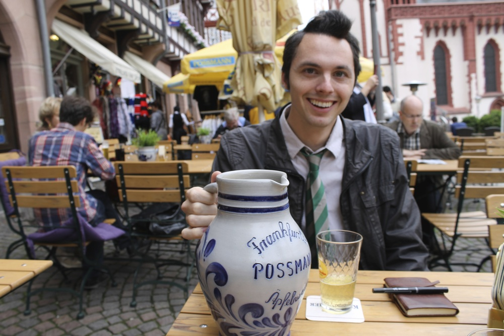 London Smith, fellow traveler and profession apfelwein taster