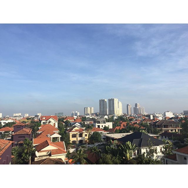 Saigon, I am obsessed with you. #viewfrommybalcony #thaodien #everydayisavacation #hochiminhcity #easyliving