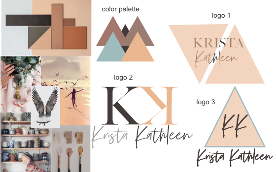 the look - You let me in on all that beauty percolating in you. I translate it through inspo images, to create your brand's colors, logo, custom font, and favicon (little icon that lives next to your URL).