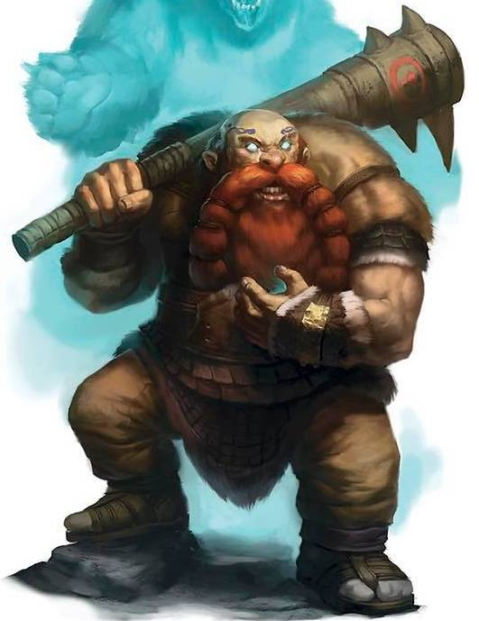 - Dain Bigtoe, Bear Totem Barbarian: Dain is from the Greypeak Mountains and he originally made a name for himself by defeating a small pack of worgs that were troubling a small village. Defeating the worgs earned Dain a folk hero status and he has since set out to continue helping others across Faerun.Sadly, Dain recently had a bit of bad luck with a Deck of Many Things and his soul has been sucked out of his body and is now trapped in an inanimate object somewhere in Faerun, leaving his body comatose and in the care of a Temple of Lathander. His compatriots have pledged to find that object, eventually.