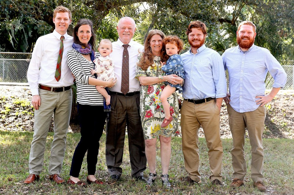 Pastor Tim Cole, his wife, Michele, and their family: Zachary and Kayla, Ivy and Fiona,  Seth, and Jared