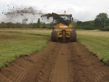 The RSPB rotary ditcher in action at Nene Park