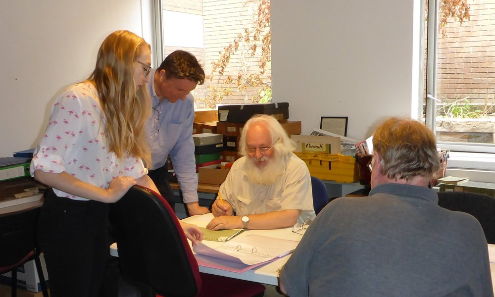 The National Leather Collection team working together on the archives