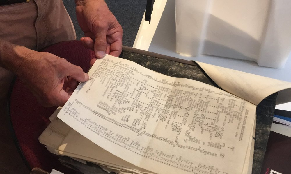 One of the very many documents being read, catalogued and archived