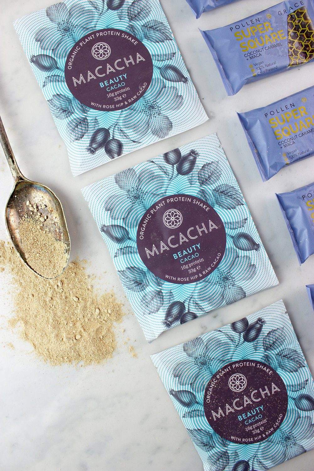 SUPERFOOD PACKED MACACHA PROTEIN POWDER