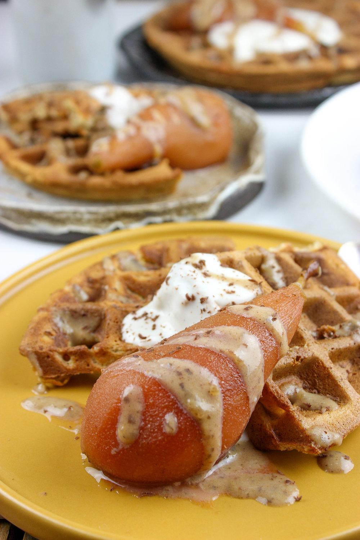 waffles wigth poached pear-2.jpg