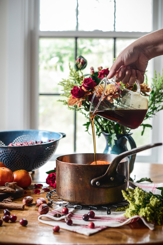maple sweetened cranberry sauce