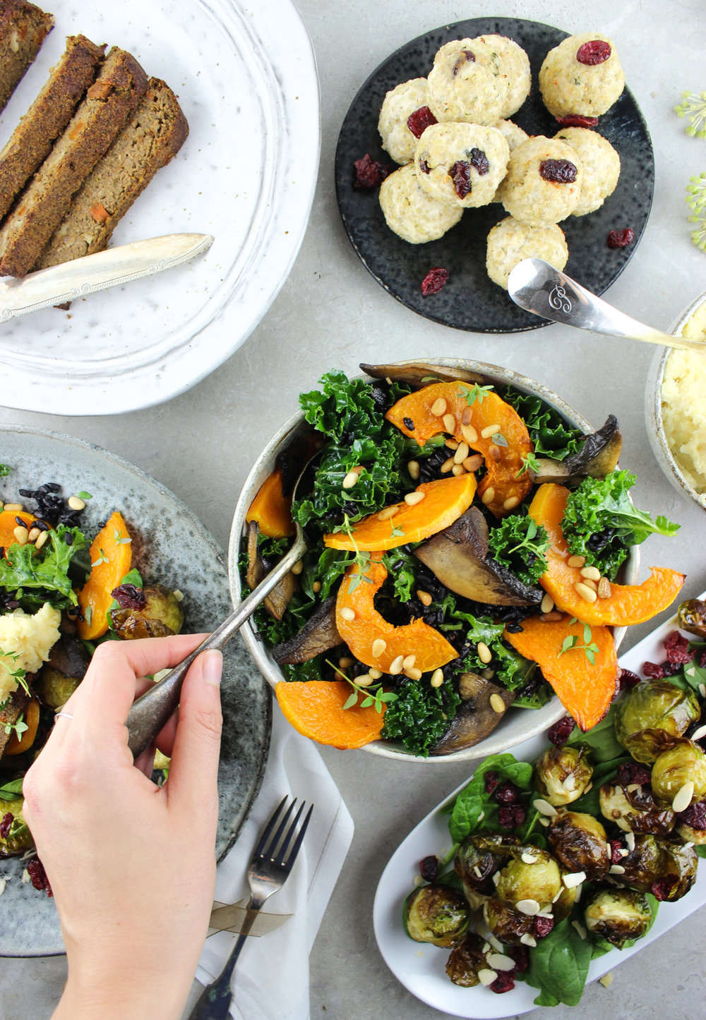 SEASONAL SALADS! SAGE INFUSED MUSHROOM + KALE SALAD