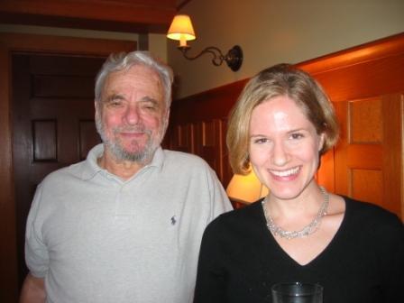 With Stephen Sondheim