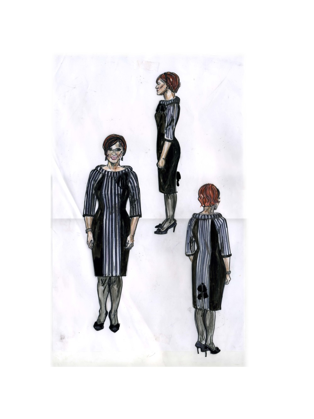 Company, Broadway (sketch of Susan dress by costume designer Ann Hould-Ward)