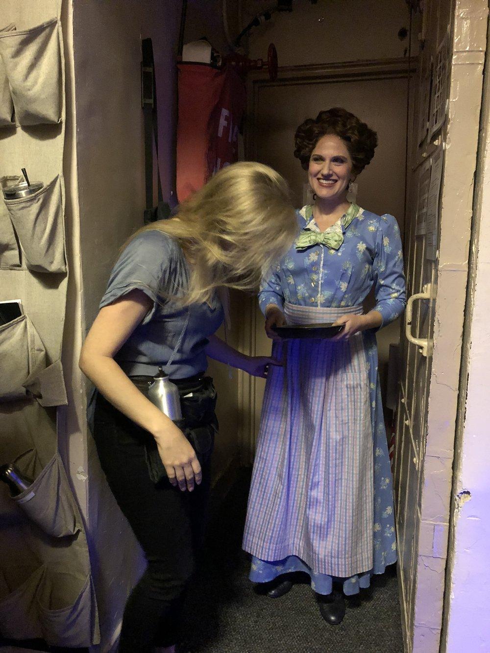 Nettie, Carousel, Broadway (with dresser Sara Darneille)