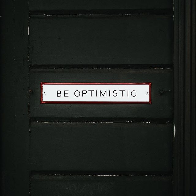 No matter how Monday makes you feel, be #optimistic about the rest of your week! #mondaymotivation #motivation #inspire