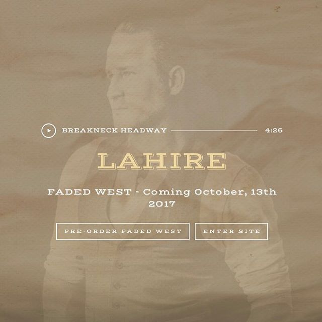 """Howdy everyone. Just over a couple of weeks away from the Faded West album release! Excited to announce you can now pre-order the album and listen to the single """"Breakneck Headway"""" on the Lahire website. Link is in the bio. Cheers! #albumrelease #preorder #rocknroll #americana #rootsrock #indierock #nashville"""