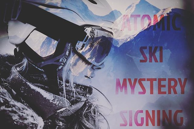 #mysterysigning @rodgersskiandsport with @atomicski athletes! 👉December 21st at 6:00pm👈 free entry! And good vibes!  #ski #atomic #snow #mountain #skiing #shred #skierslife #atomicski #atomicathletes #tipsup