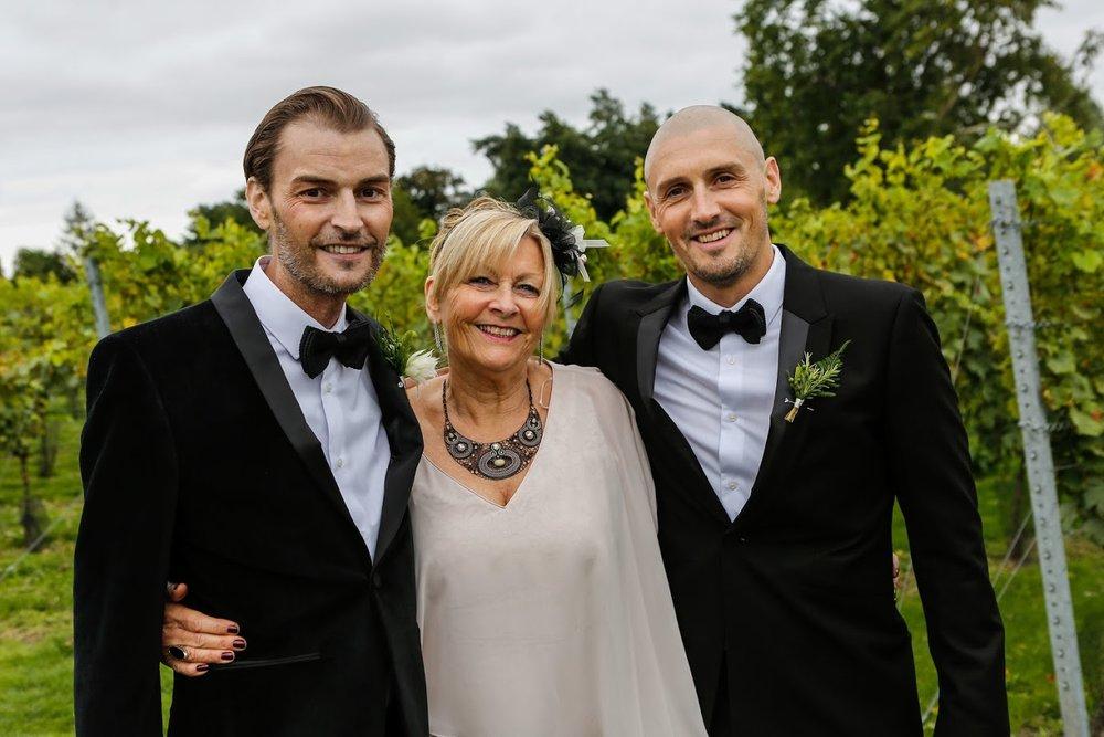 Bean, Mum and I