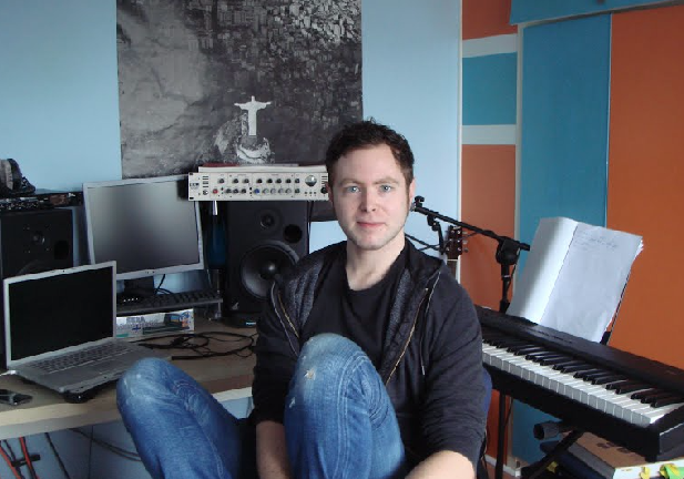 Jack White in his home studio