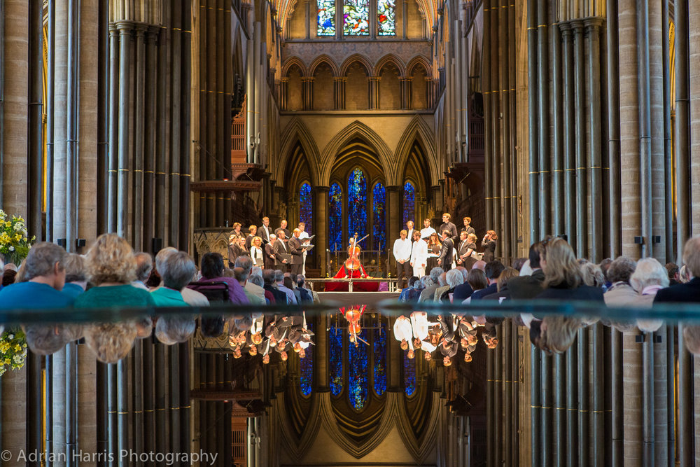 South Iceland Chamber Choir performs in Southwark Cathedral London in a tribute to Sir John Tavener