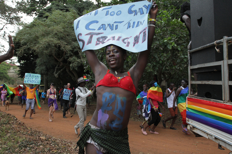 Bad Black celebrates her country's first Gay Pride, Entebbe, Uganda, August 4th 2012. © Rachel Adams