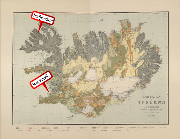 Iceland-Map-Isafjordur-Reykjavik