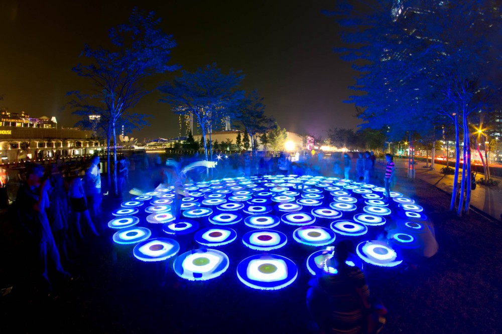 The Pool by Jen Leiwin Studio at iLight Marina Bay 2014