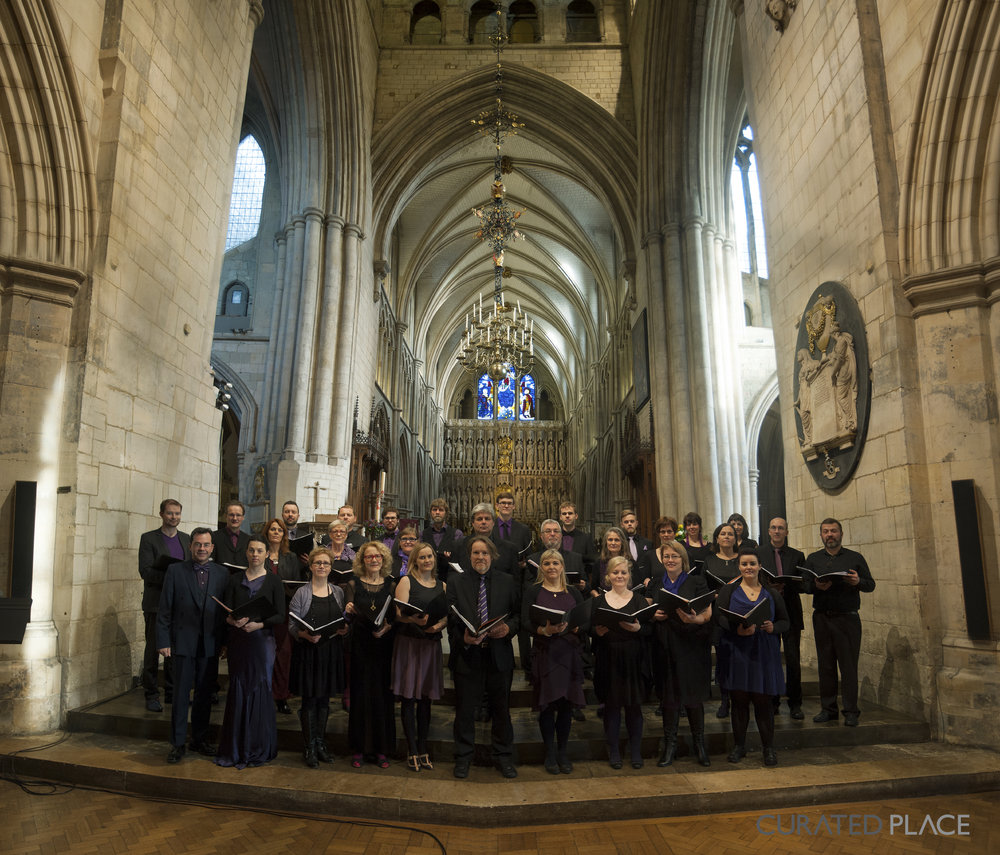 The South Iceland Chamber Choir performs 'Ysonedd (Islands)' by composer Jack White in Southwark Cathedral November 15 2013
