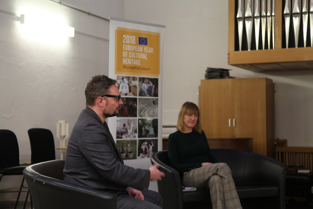 Andy Brydon (Director, SICC) with Marianne Lewsley-Stier (Head of Culture Campus, University of Hull)