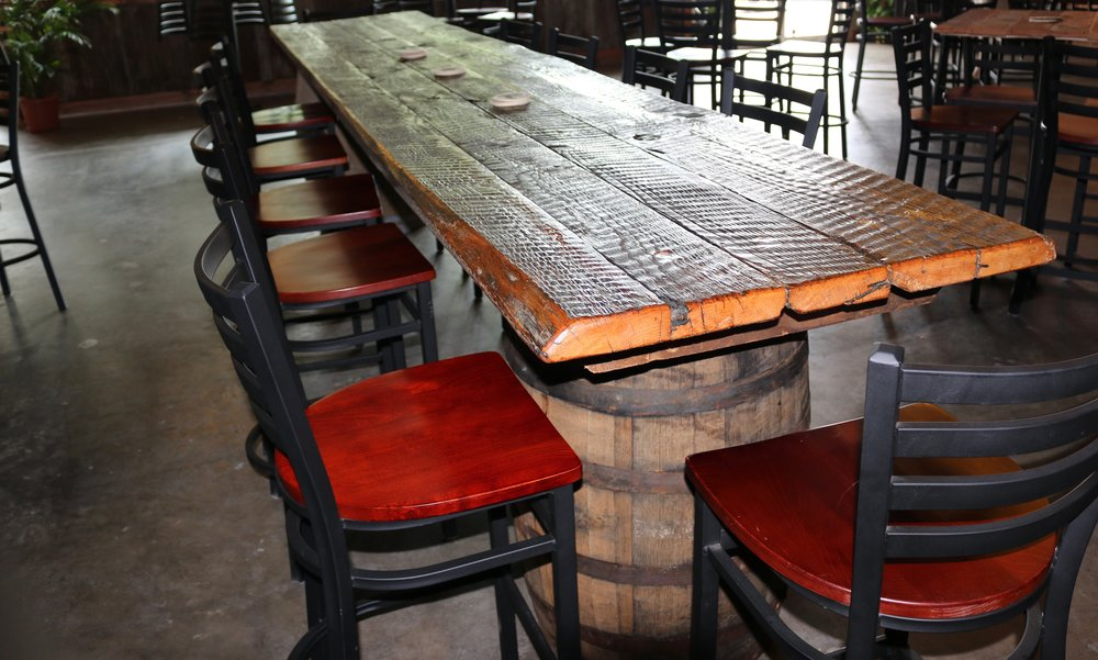 Long table made from reclaimed wood