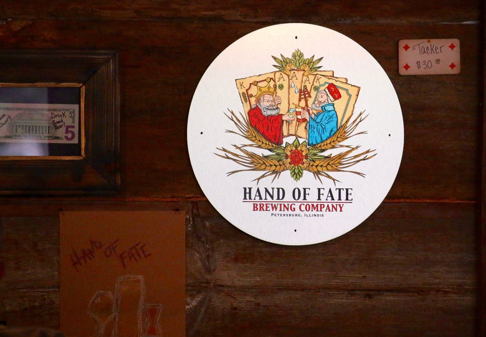 Hand of Fate Petersburg IL -Drink local beer!