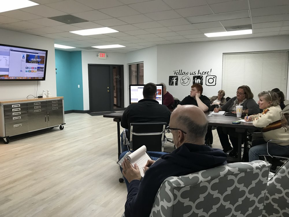 The Local First Springfield February training session on social media took place at Gem PR & Media