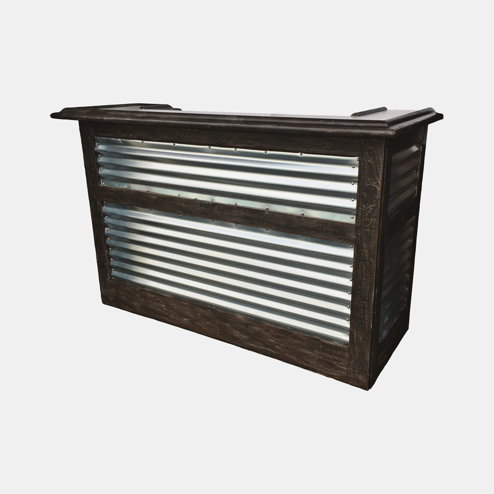 Six-Foot Wood/Corrugated Portable Bar — Sundry Specialty Event ...