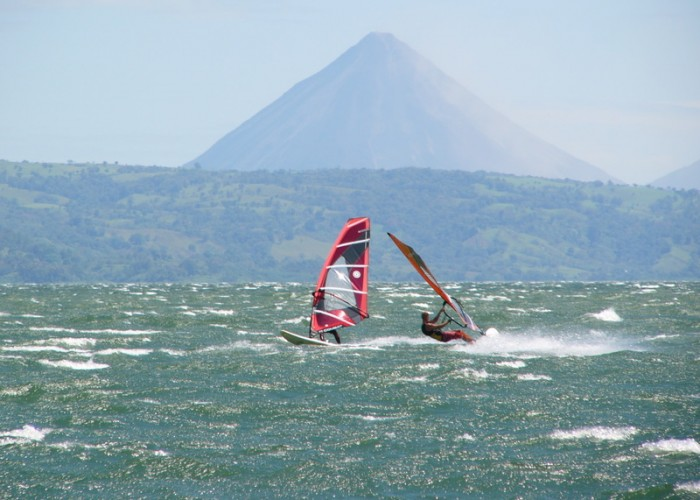 Windsurfing at Lake Arenal, by  MisticaCostaRica