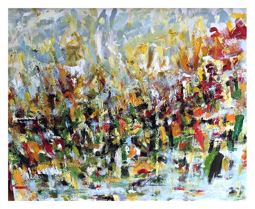 """Untitled - Acrylic on Canvas 40""""W x 30""""H"""