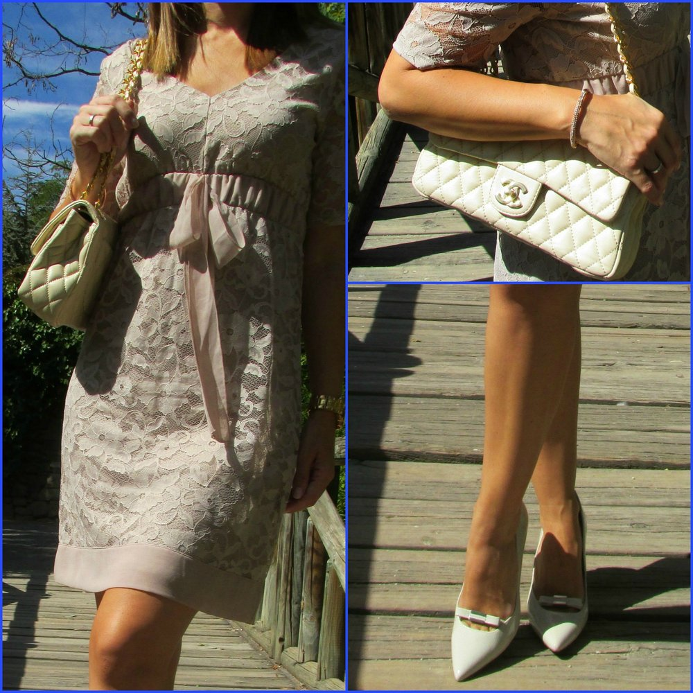 Dress: INTIMISSIMI; Shoes: NINE WEST; Bracelet: SWAROSVSKY; Sunnies: VOGUE; Handbag: CHANEL;