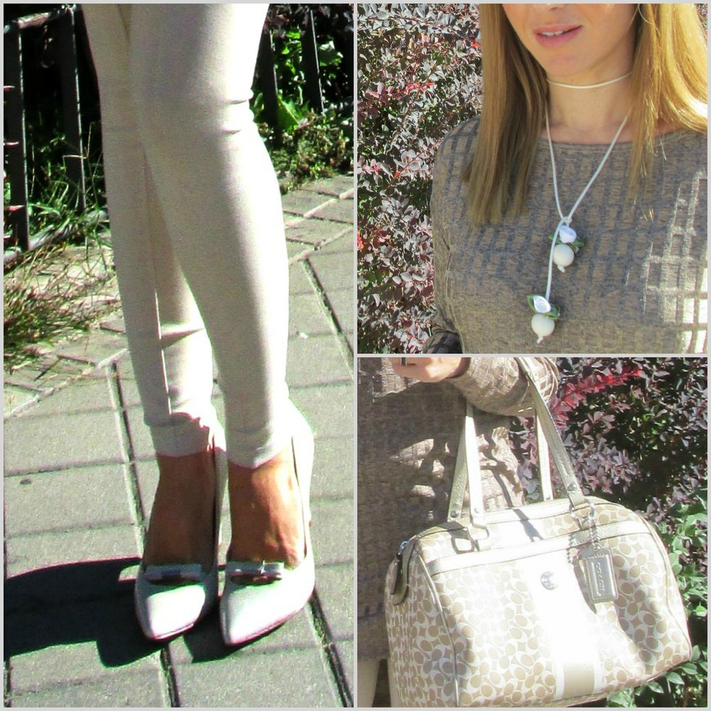 Leggins: ZARA (old); Shoes: NINE WEST; Chocker: SUSANA LUNA COMPLEMENTOS; Top: ZARA (fall/winter 16); Ring: SWAROVSKY; Bag: COACH