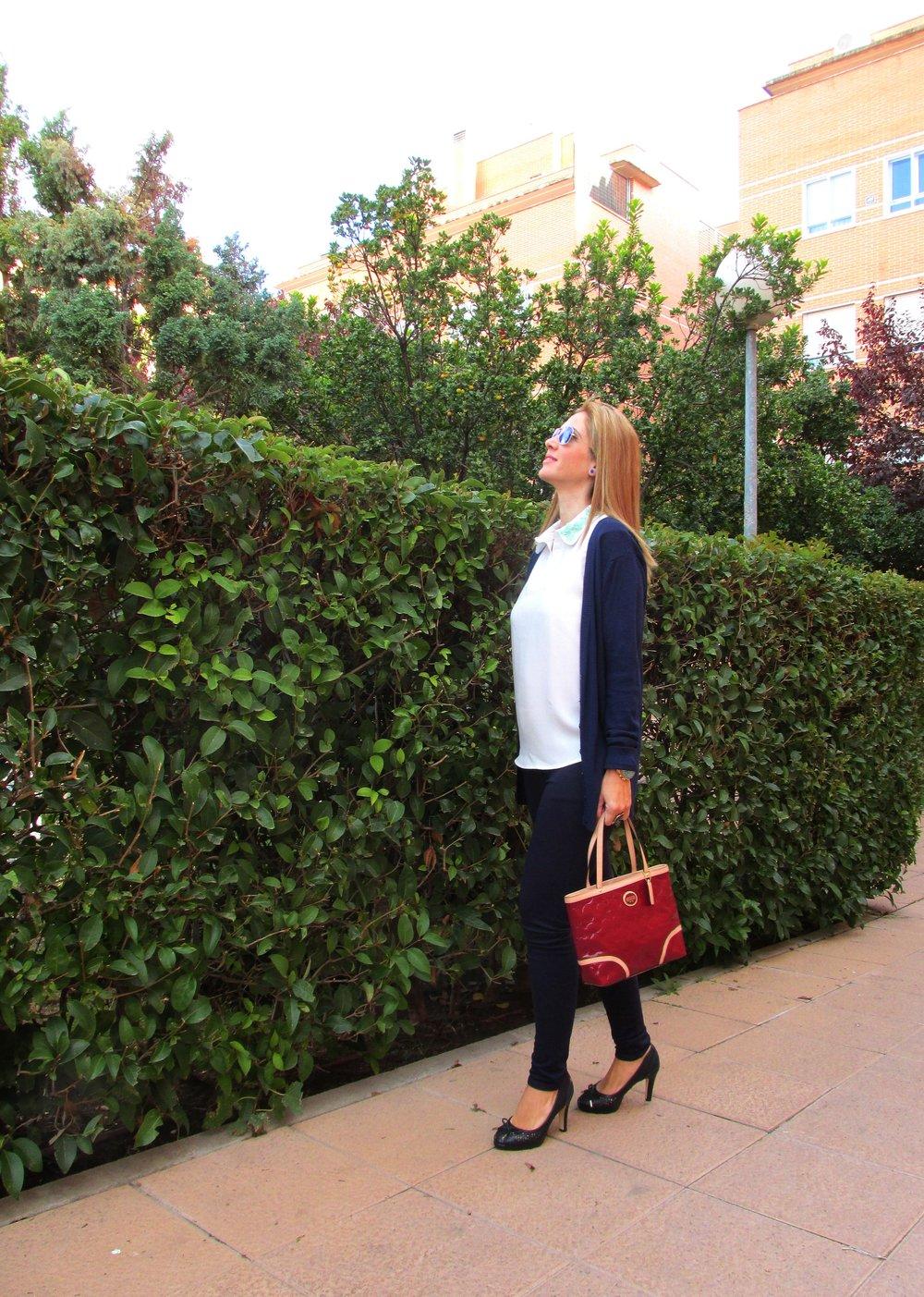 Navy blue basics fashion blog 3