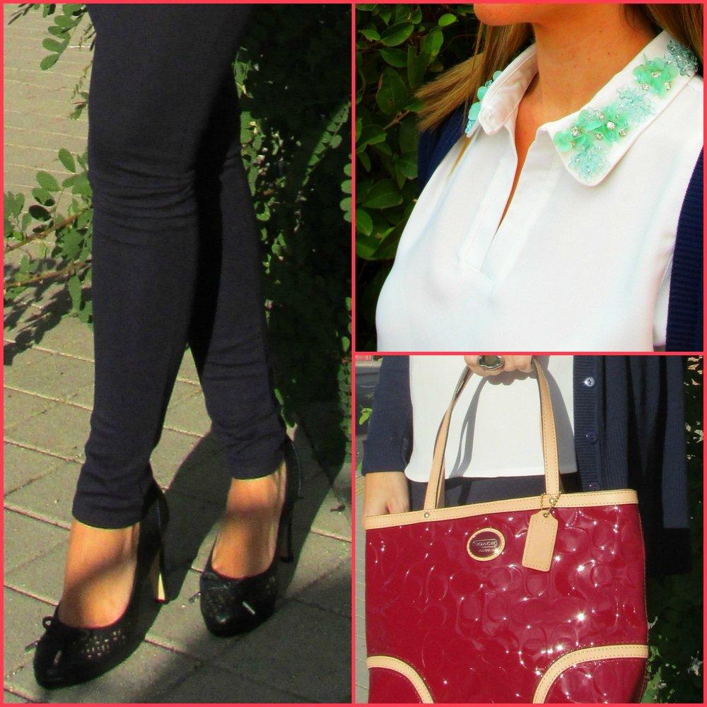 Pants: ZARA(old); Blouse: NAF NAF(Fall/ Winter ´16); Jacket: PRIMARK; Handbag: COACH; Shoes: MARÍA MARE; Ring: TOUS; Sun glasses: RAY-BAN