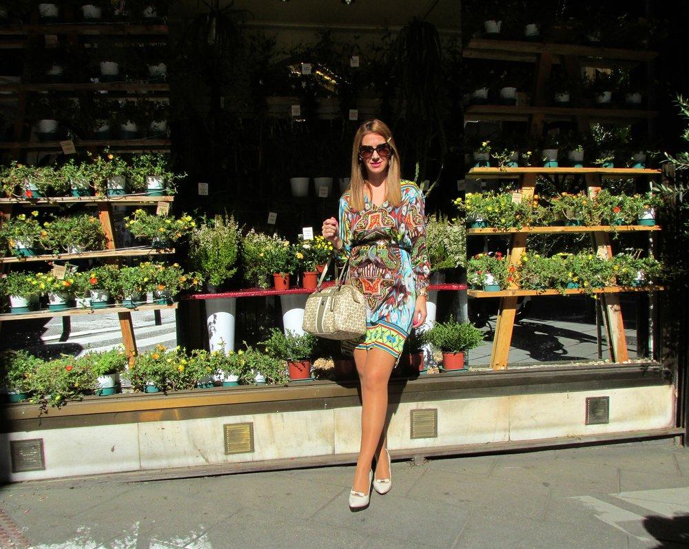 colourful dress fashion blog 2