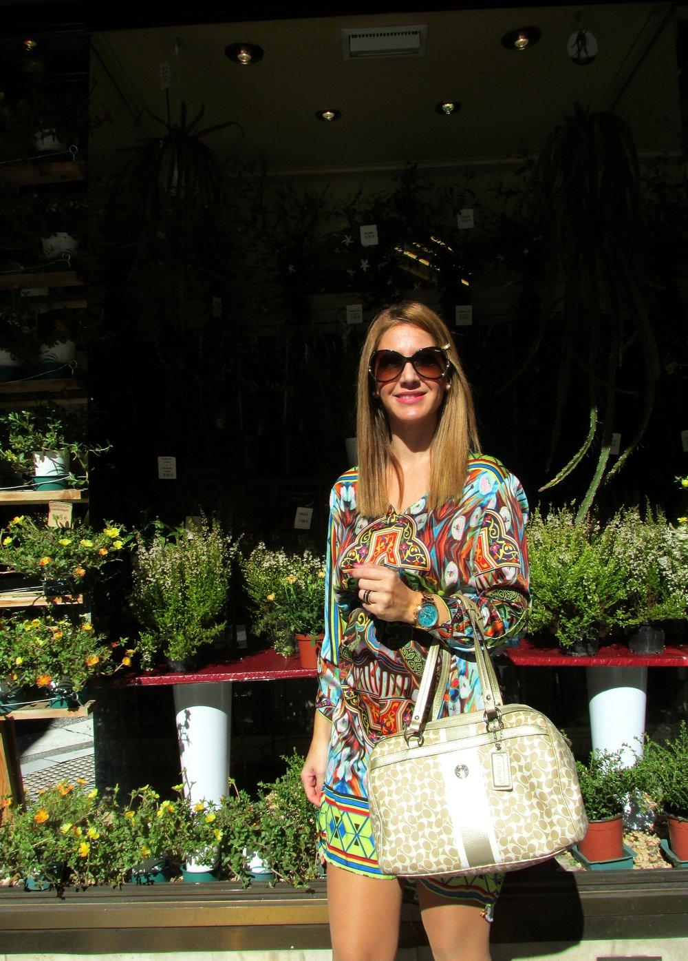 Colouful dress fashion blog 3