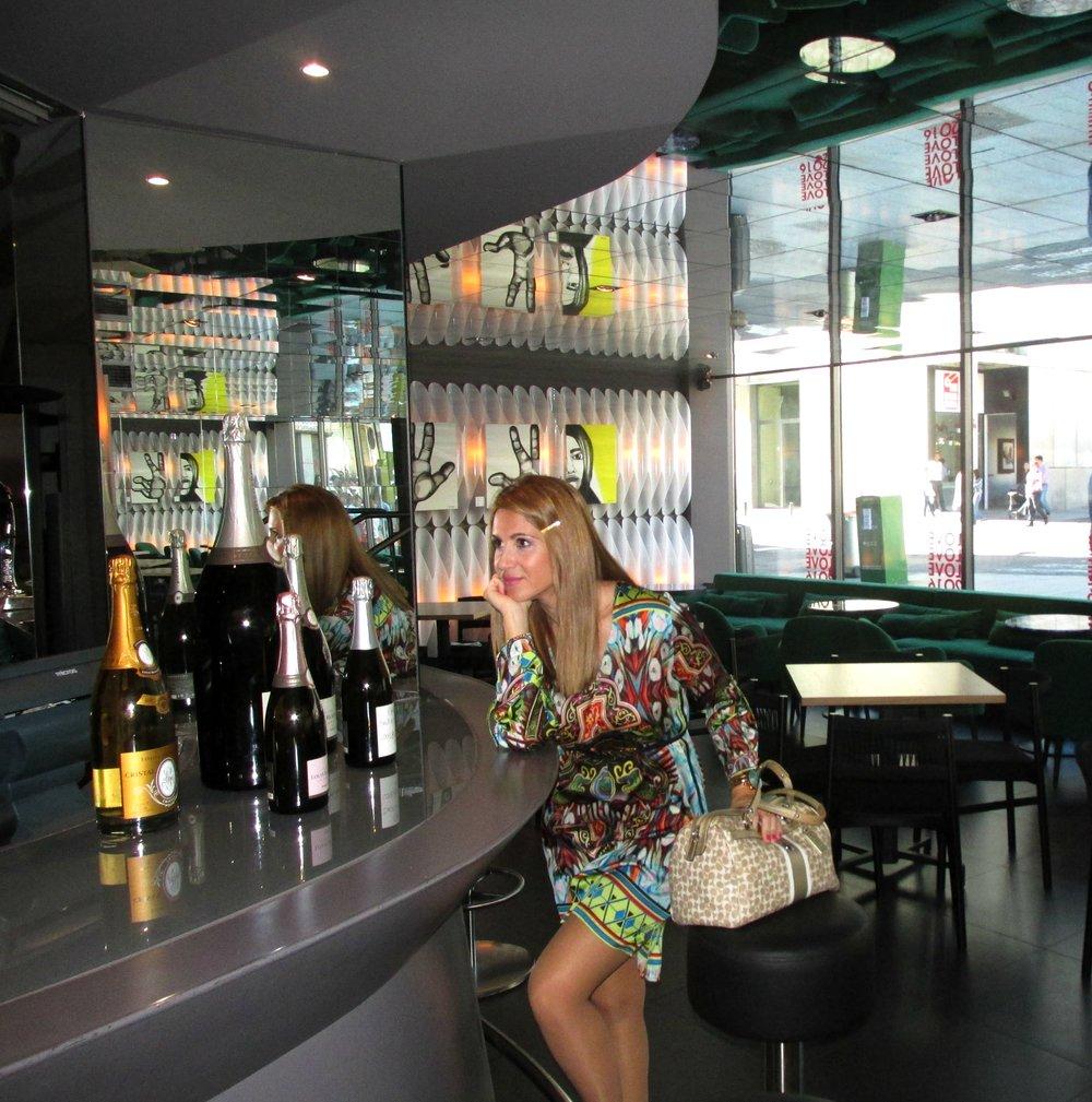 Colourful dress fashion blog 6