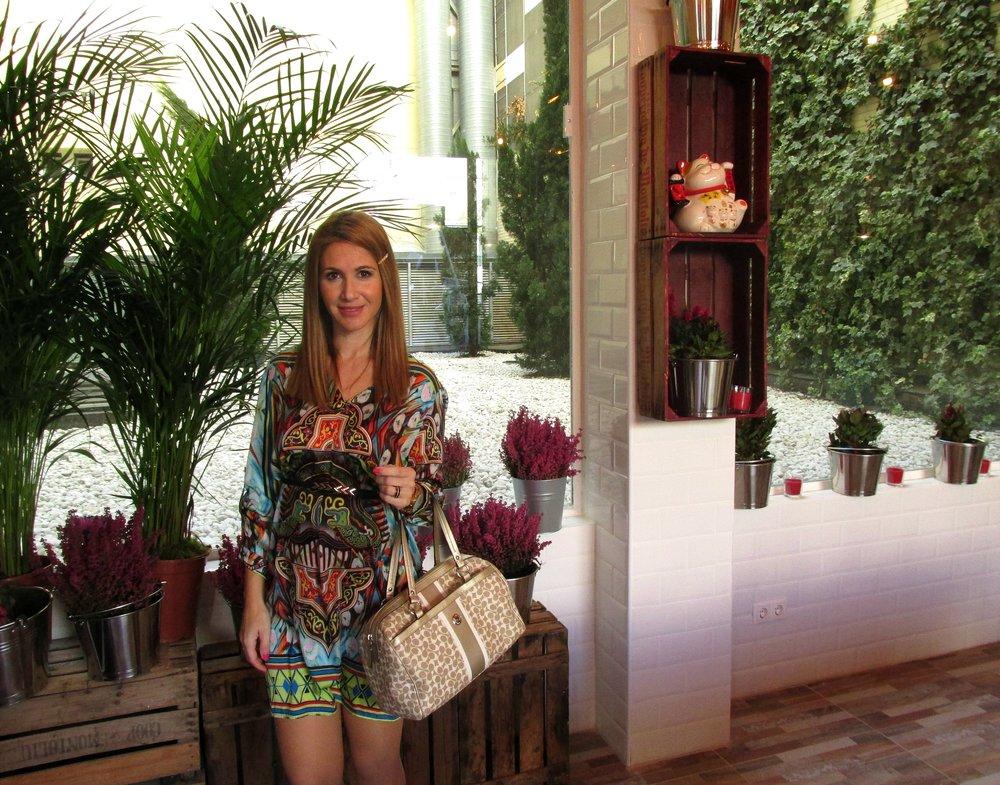 Colourful dress fashion blog 8