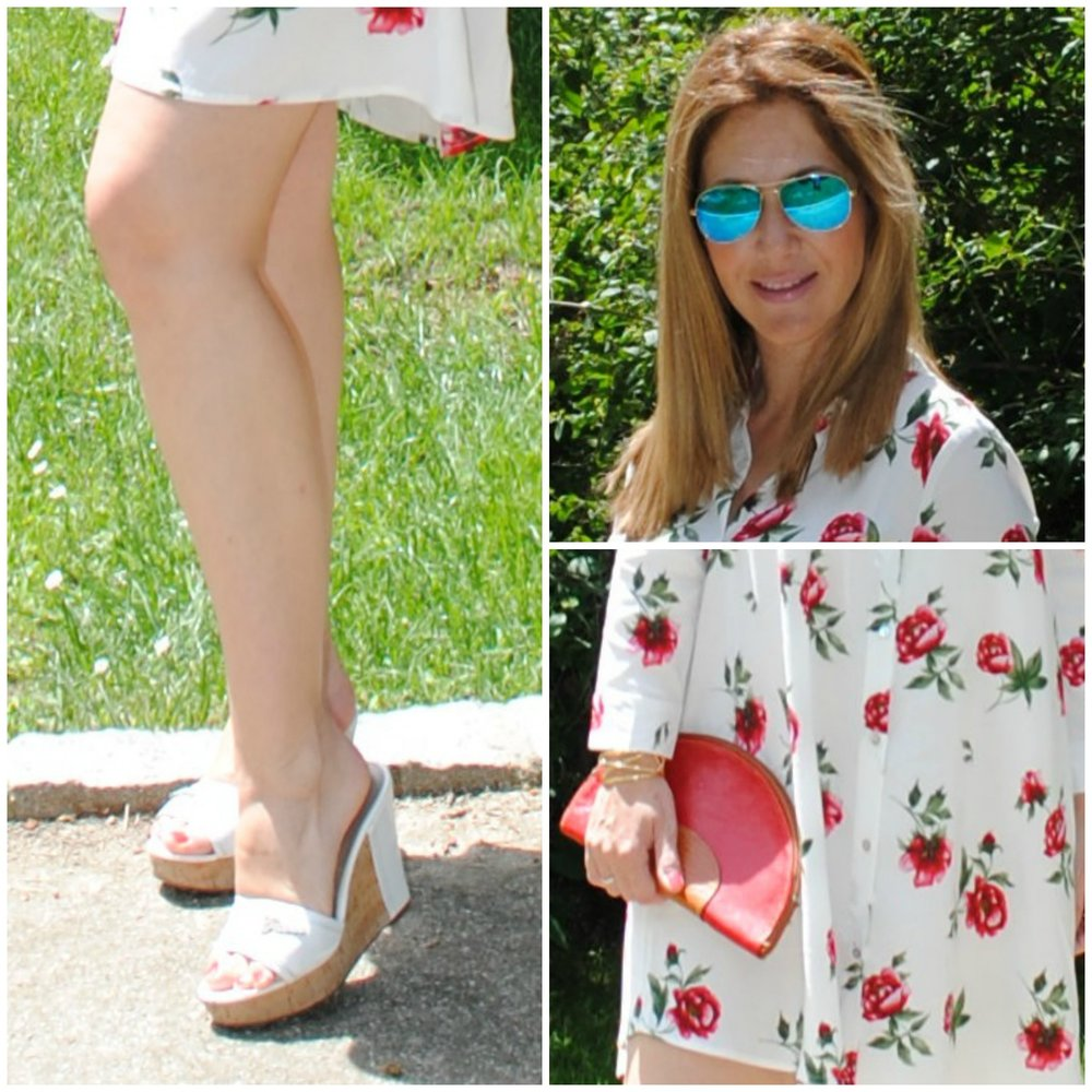 Dress: STRADIVARIUS (Summer ´17); Sunglasses: RAY-BAN; Sandals: GUESS;
